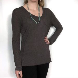 Long Sleeved Tee with Pocket